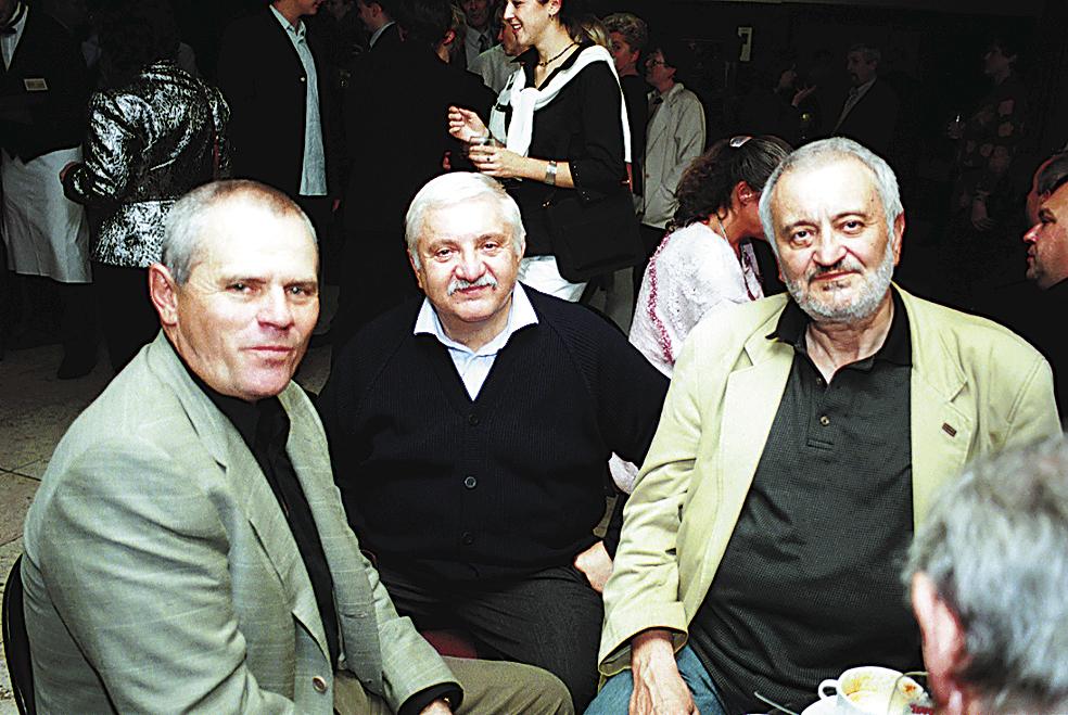 Marián Labuda s Milanem Kňažkem a Milanem Lasicou