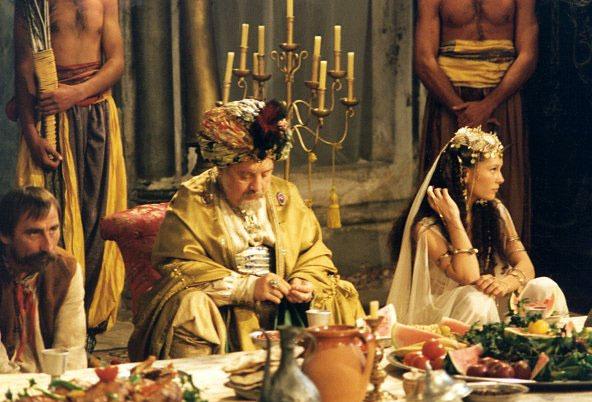 Marián Labuda jako sultán v pohádce Lotrando a Zubejda