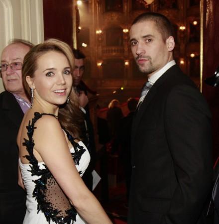 S manželem Tomášem Plekancem.