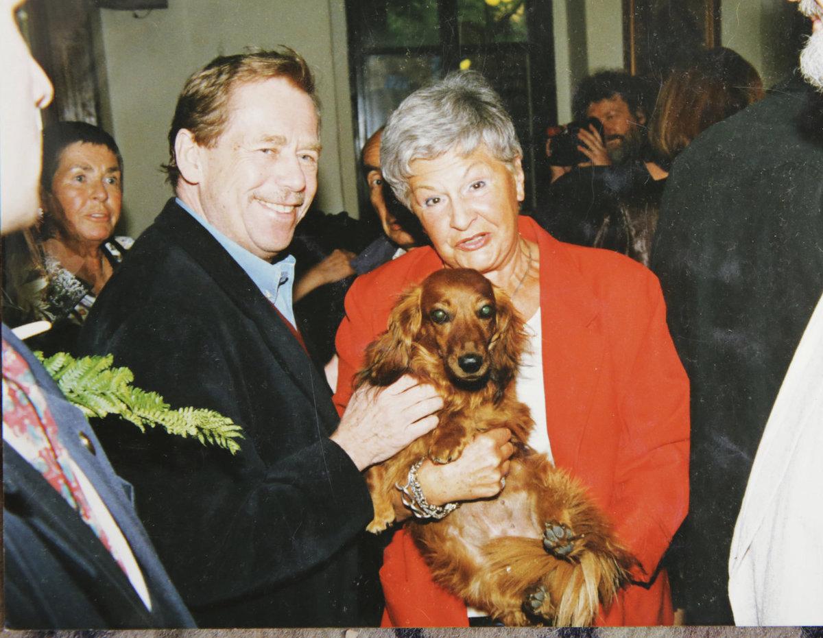 Kamila Moučková a Václav Havel
