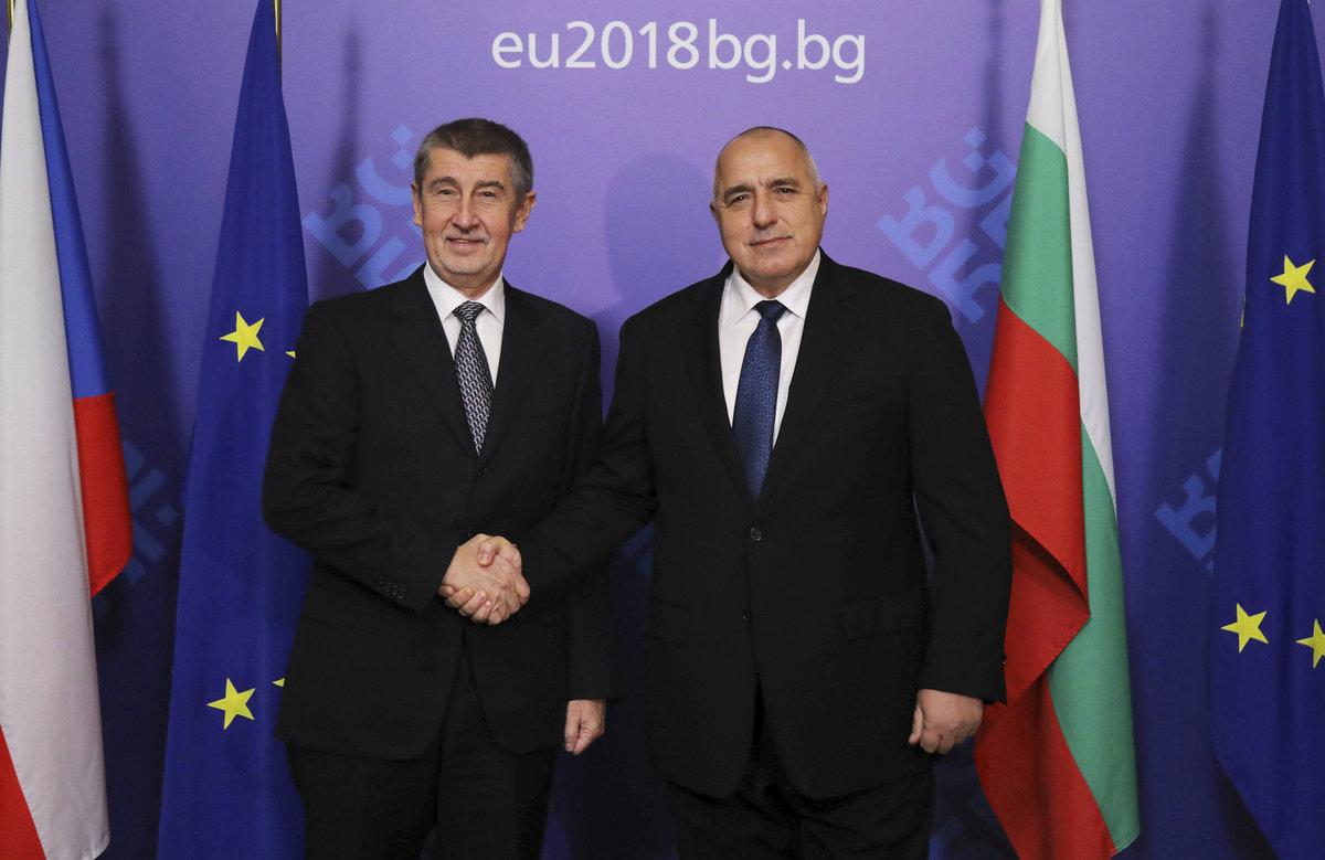 Andrej Babiš v Bulharsku s premiérem Borisovem
