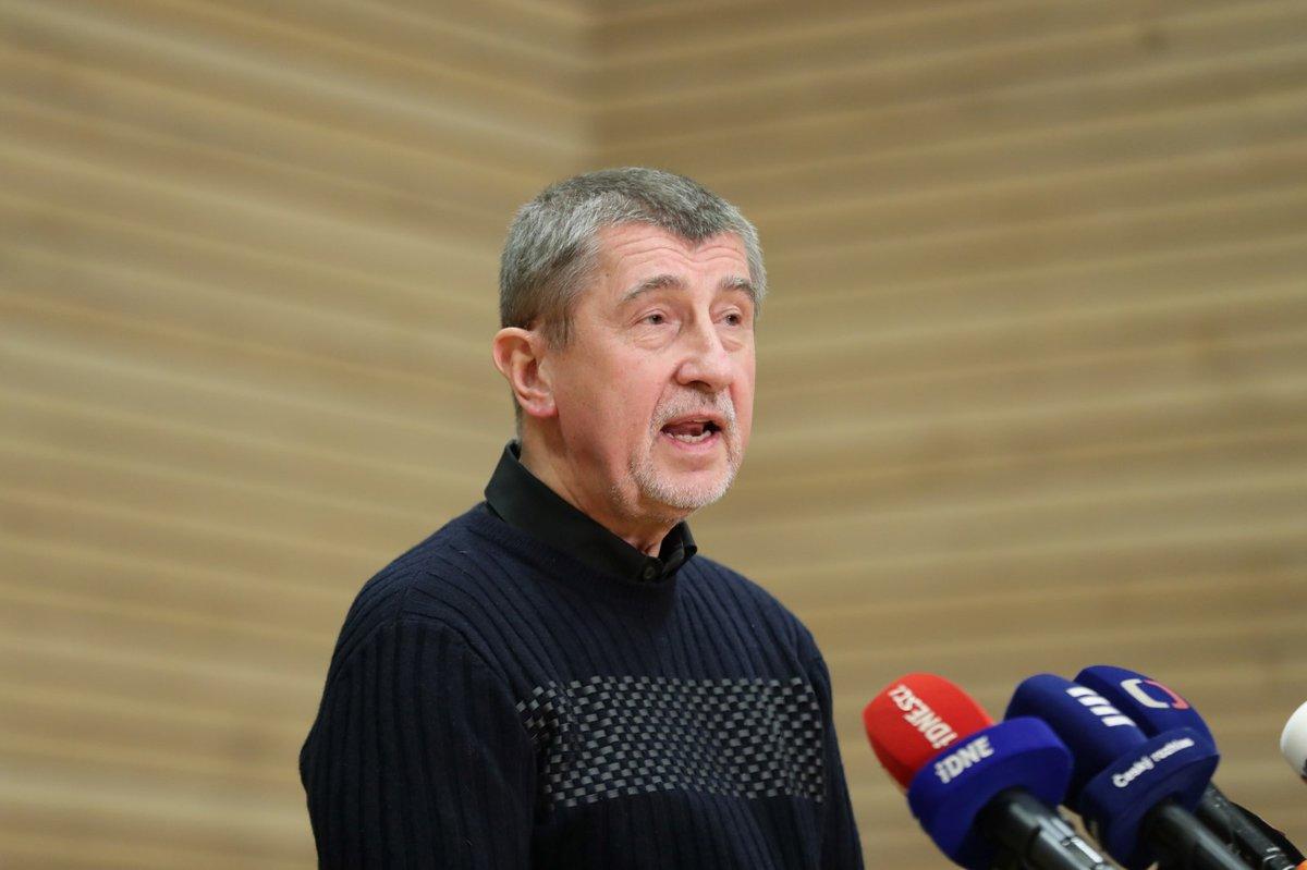 Tisková konference premiéra Andreje Babiše k výsledku prezidentských voleb