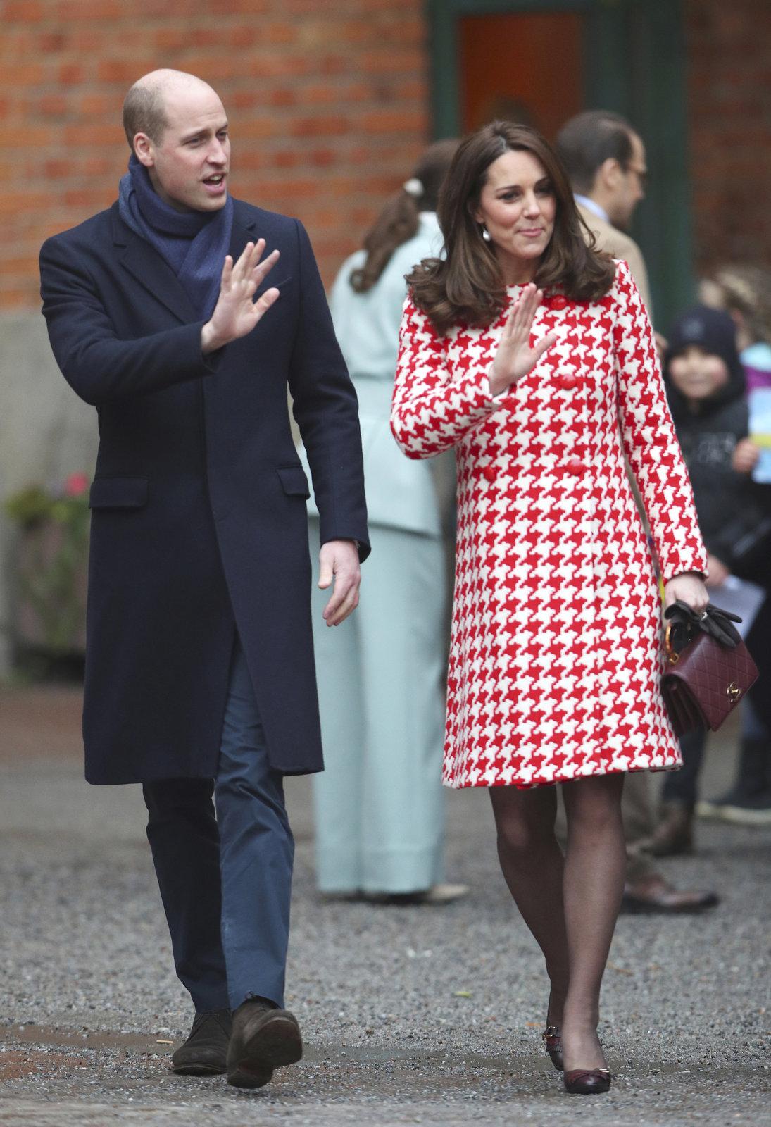 Princ William a vévodkyně Kate ve Švédsku.