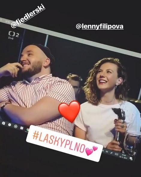 Lenny se rozešla s Ondřejem Fiedlerem