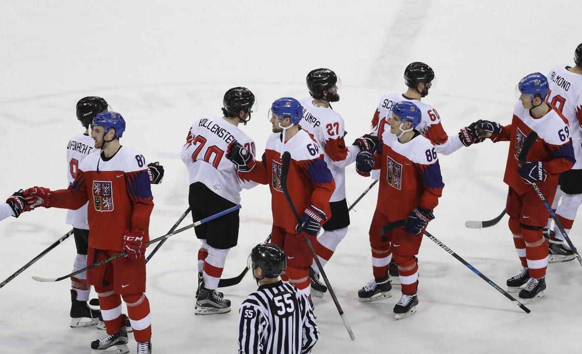 Čeští hokejisté se po postupu do čtvrtfinále loučí se Šývcary