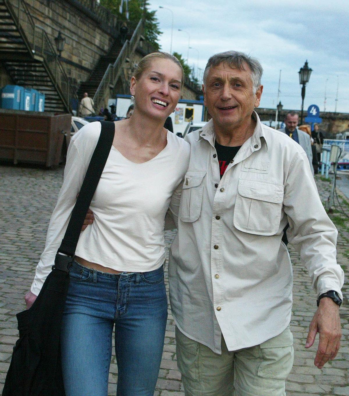 Jiří Menzel s Olgou Menzelovou