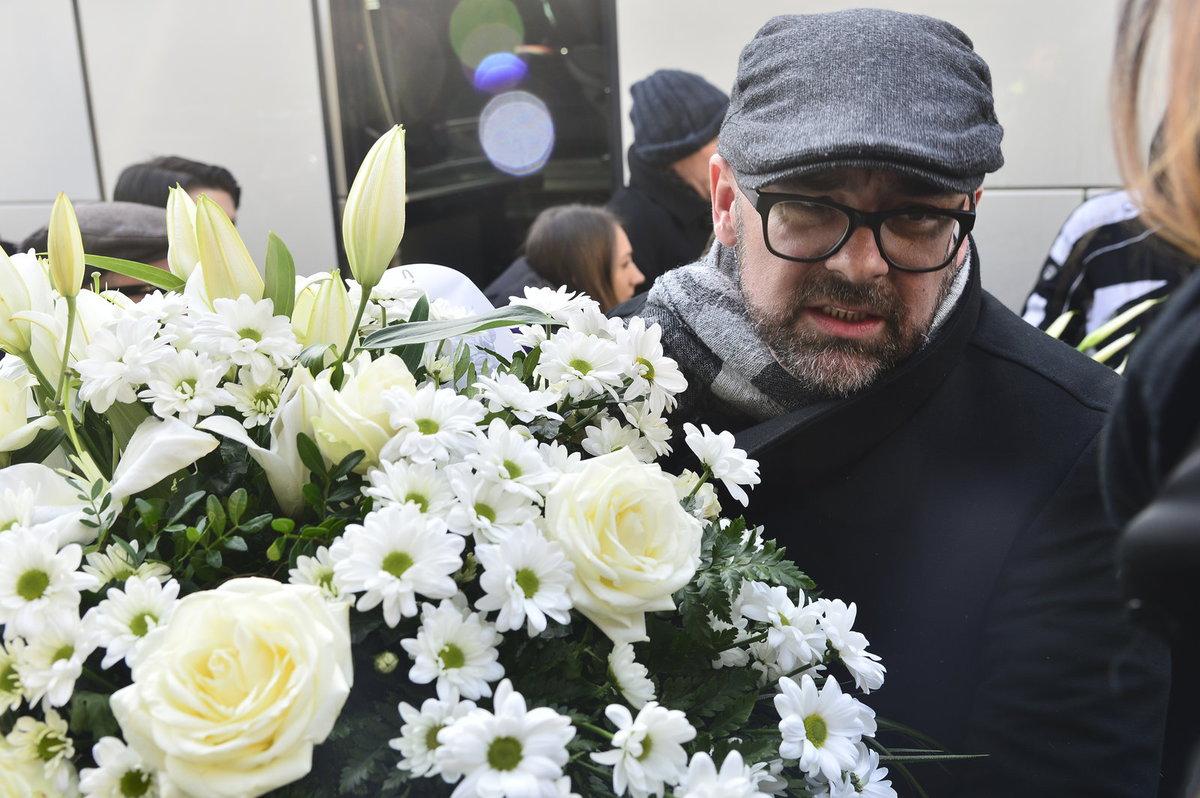 Šéfredaktor webu Aktuality.sk Peter Bárdy na pohřbu Jána Kuciaka.