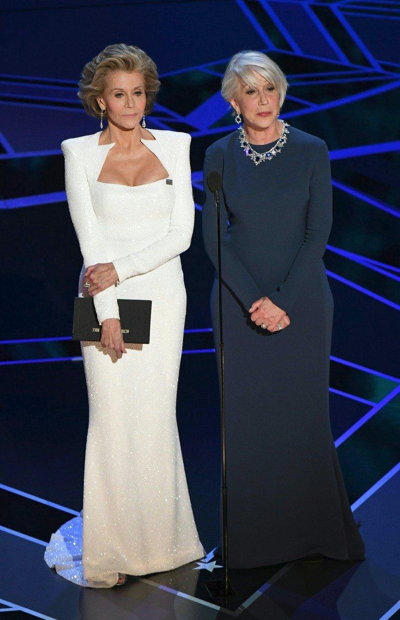 Jane Fonda a Helen Mirren na Oscarech