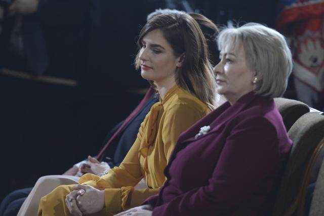 Kateřina a Ivana Zemanovy na inaguraci