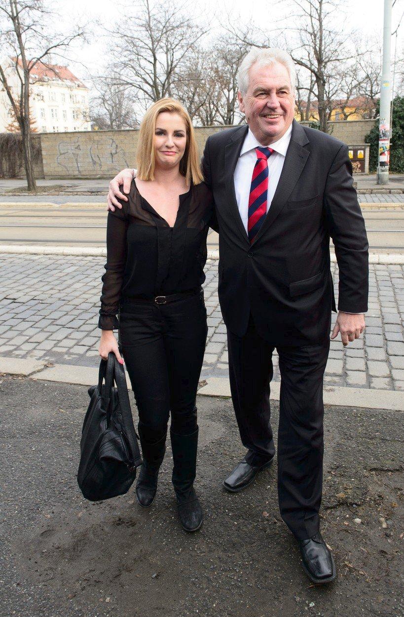 Kateřina Zemanová a Miloš Zeman před volbami v roce 2013