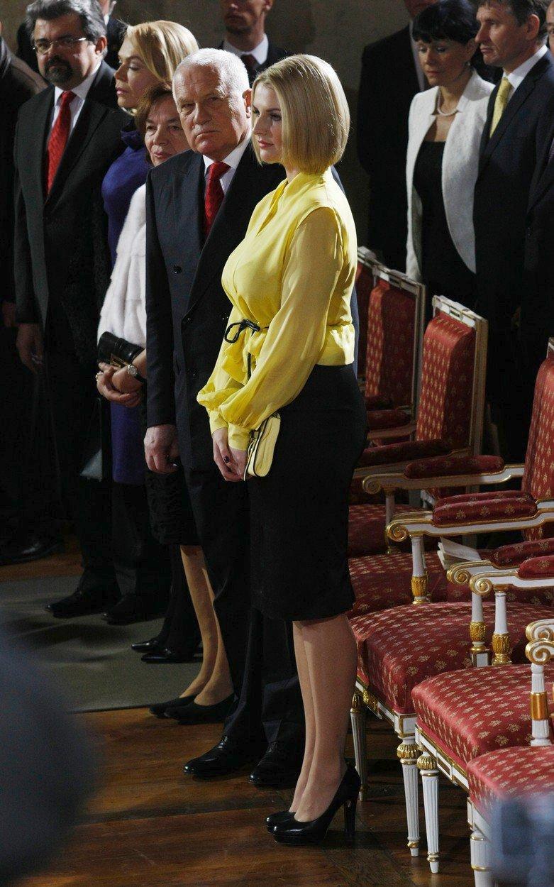 Kateřina Zemanová na prezidentské inauguraci (2013)