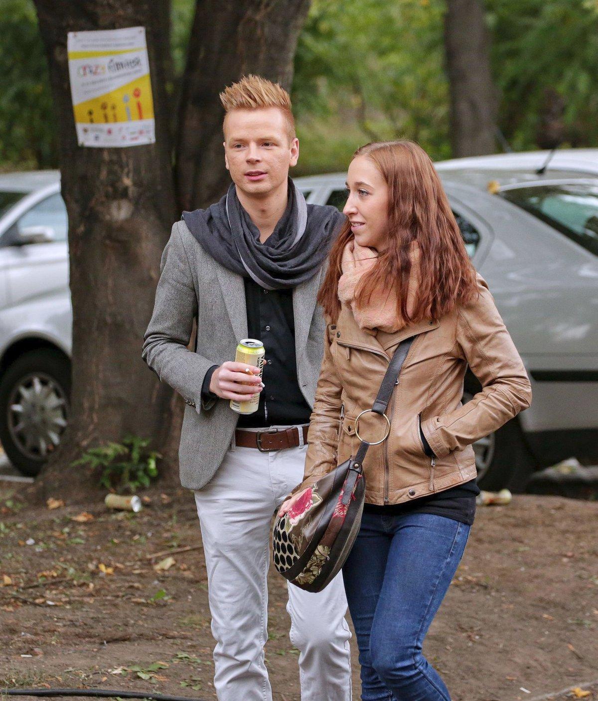 Pavel Dytrt s přítelkyní