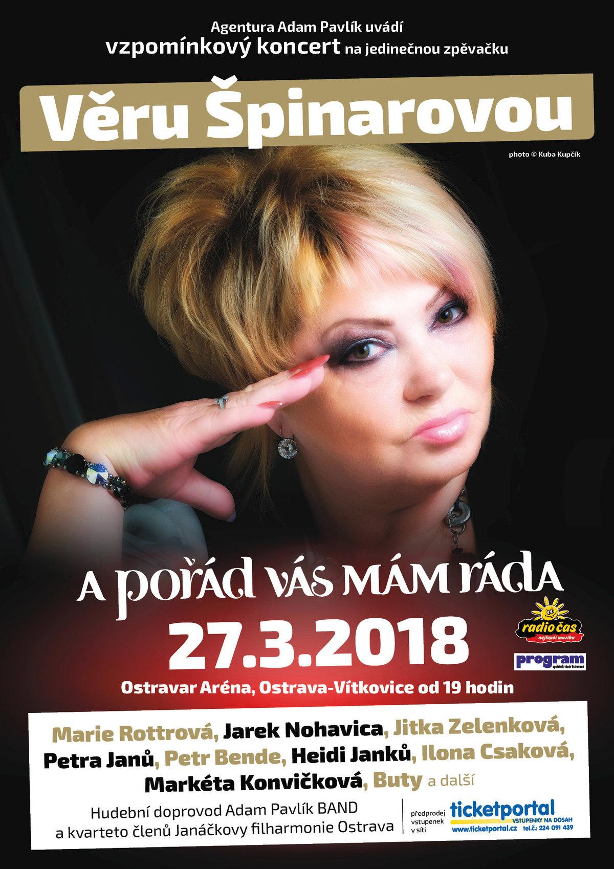 Vzpomínkový koncert na Věru Špinarovou