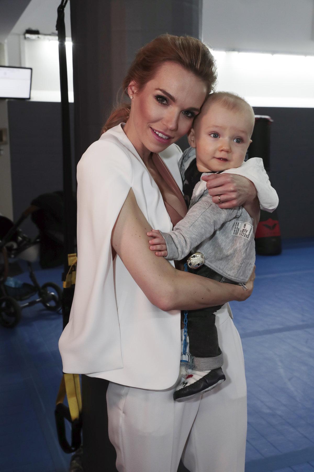 Hana Mašlíková se svým synem Andreasem poprvé na veřejnosti.