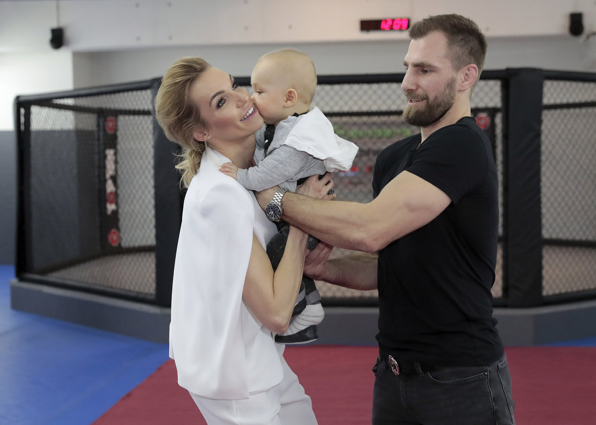 Hana Mašlíková s manželem André Reindersem a synem Andreasem