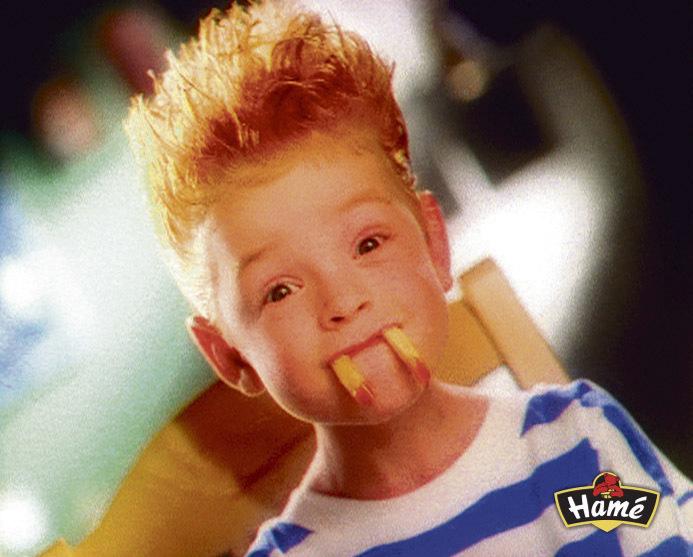 Malý Pavel v reklamě na kečup.