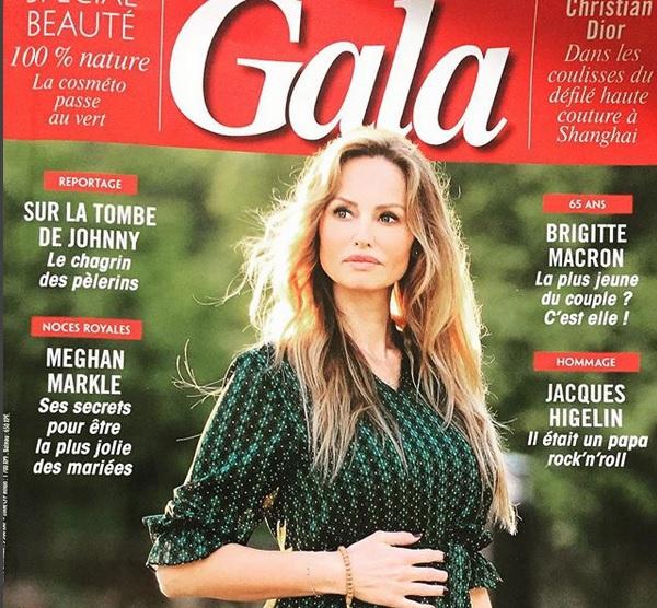Těhotná Adriana na titulu francouzského Gala