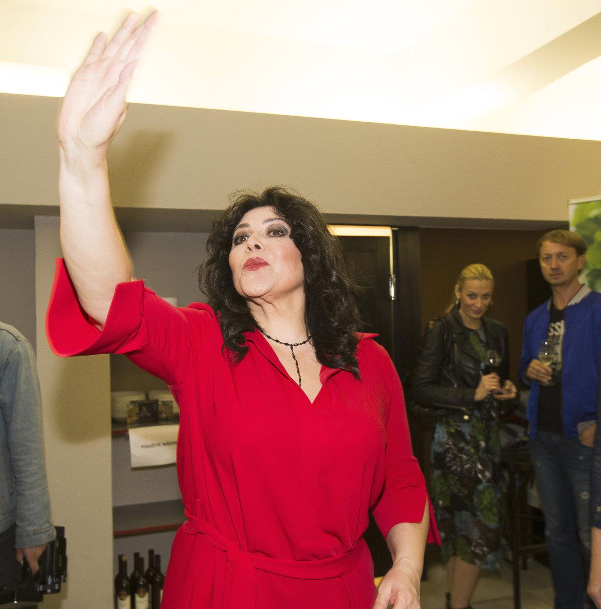 Ilona Csáková na křtu svého nového alba.