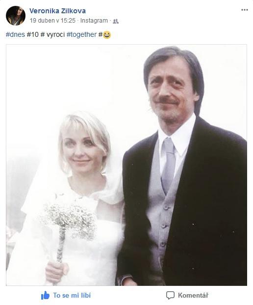 Výročí Žilková oslavila na sociální síti