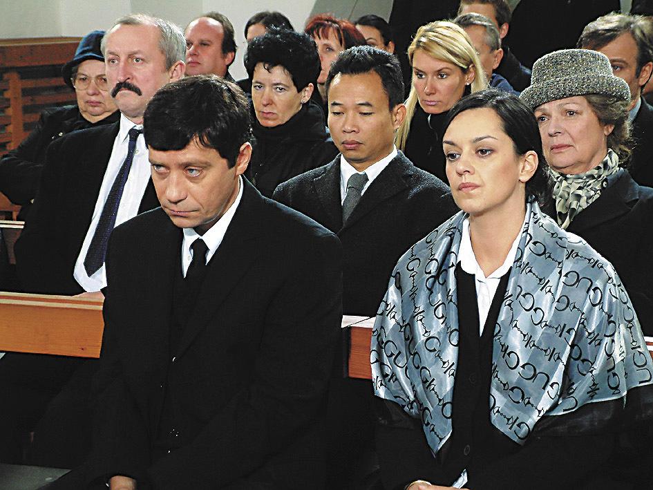 S Pavlem Křížem ve filmu Konec básníků v Čechách.