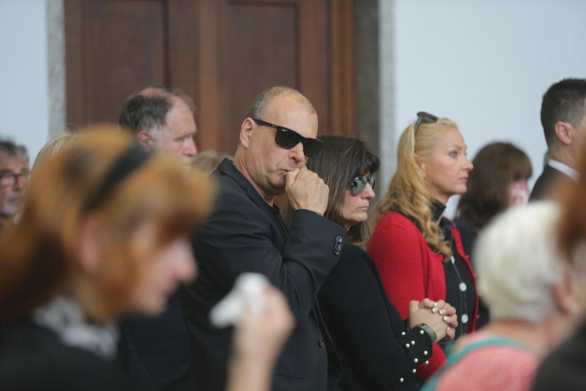 Petr Rychlý na pohřbu Josefa Mladého