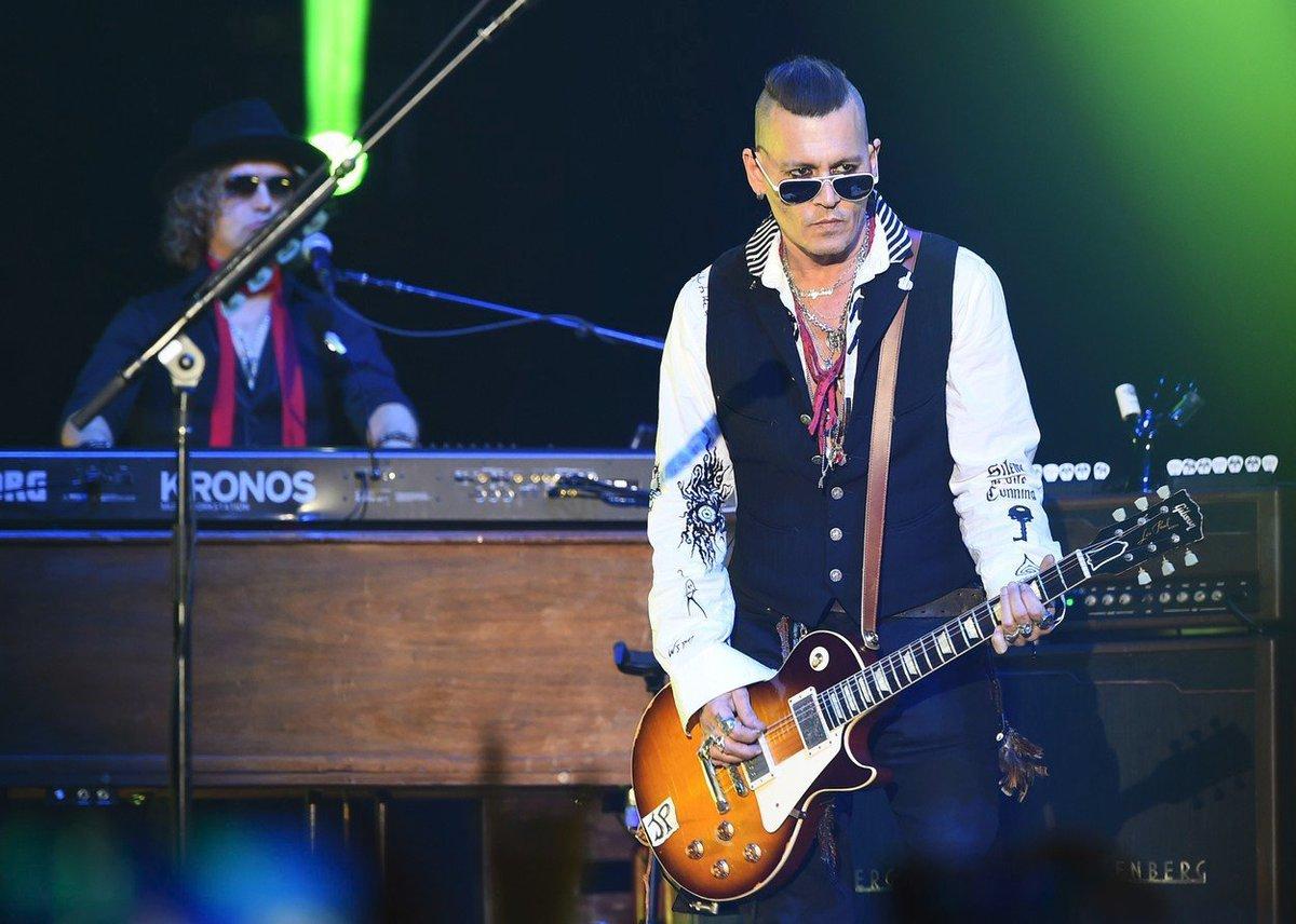 Johnny Depp na koncertě