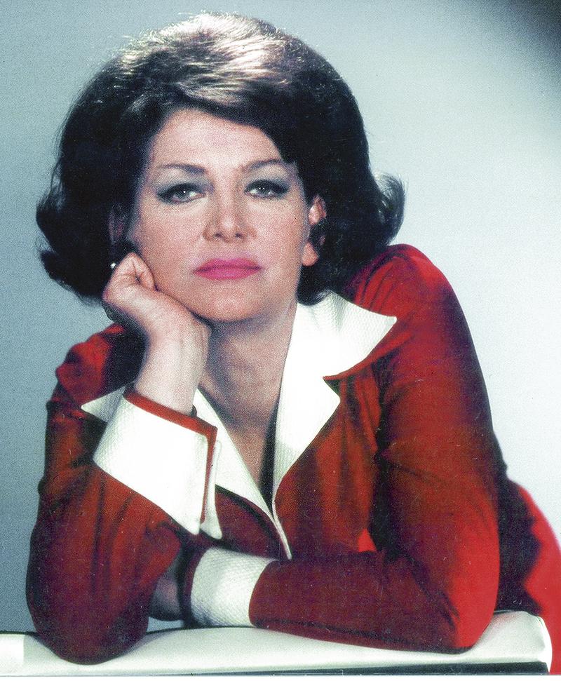 Heda Čechová na vrcholu popularity koncem 60. let.