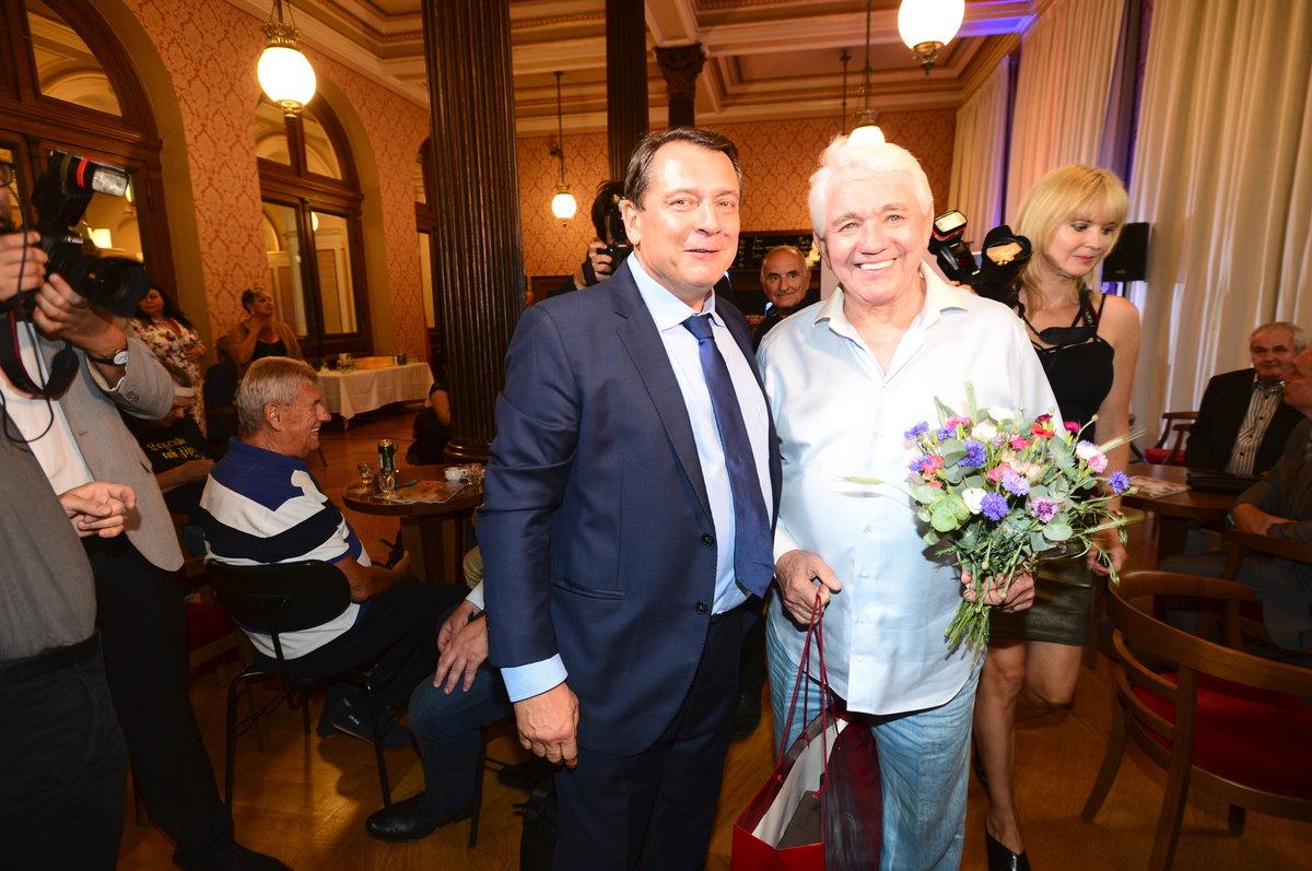 Jiří Krampol s Jiřím Paroubkem
