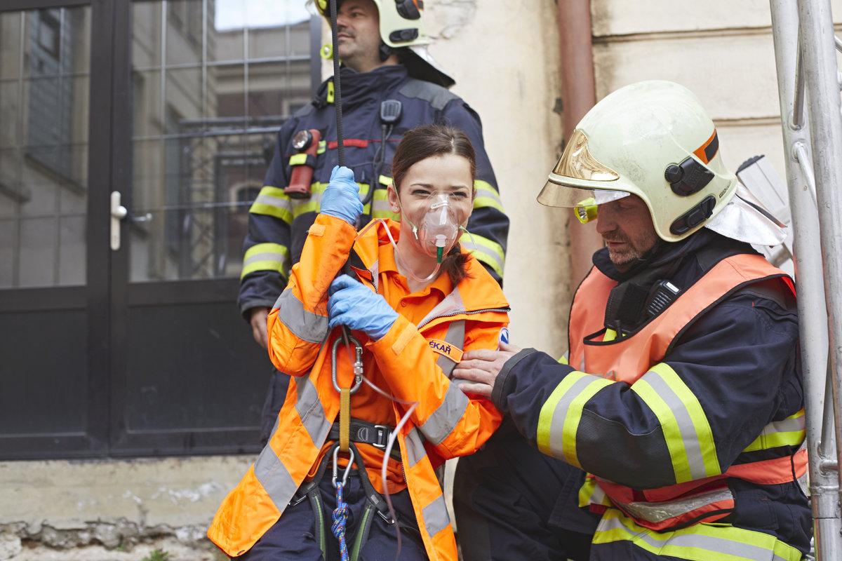 Marika Šoposká natáčela v Ordinaci dramatickou scénu s vyprošťováním pacienta