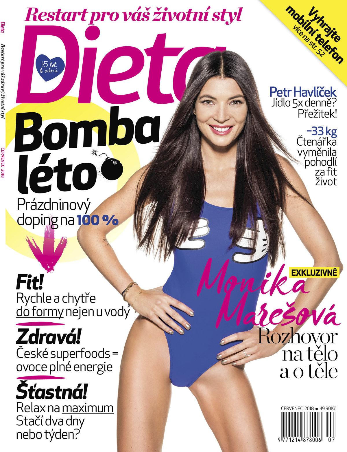 Monika Marešová v časopisu Dieta.