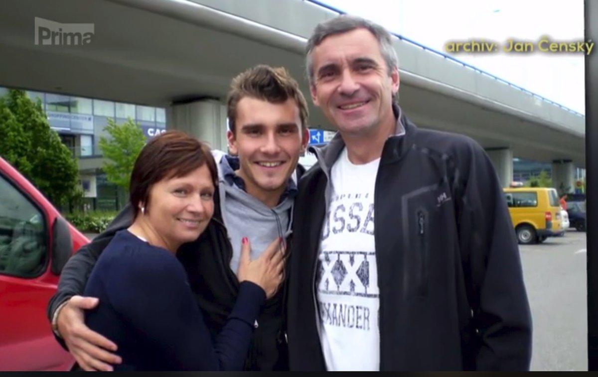 Jan Čenský s rodinou