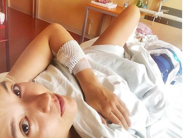 Tamara Klusová v nemocnici