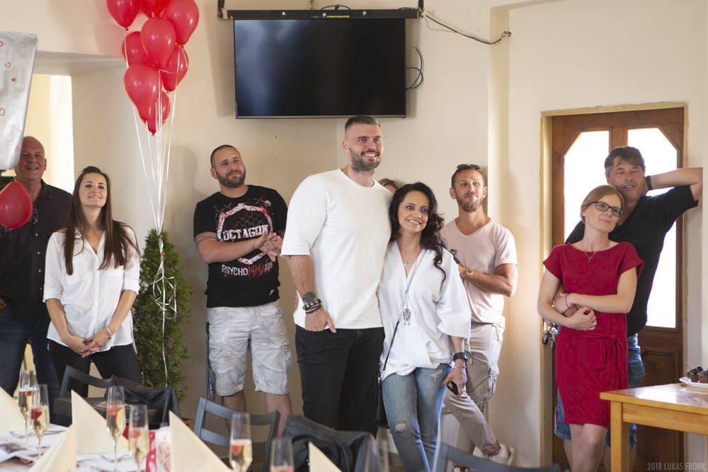 Lucie Bílá a Radek Filipi na oslavě jeho narozenin