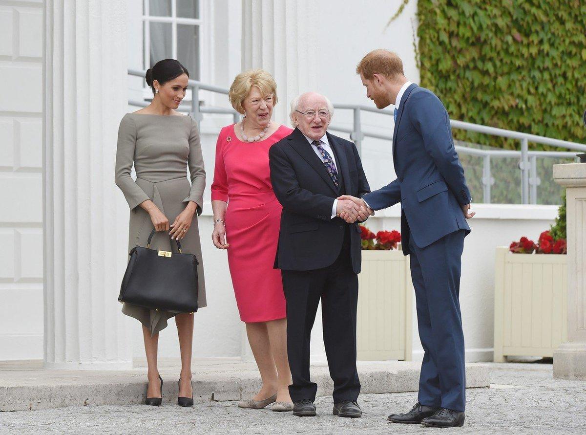 Princ Harry s vévodkyní Meghan se setkali s irským prezidentem