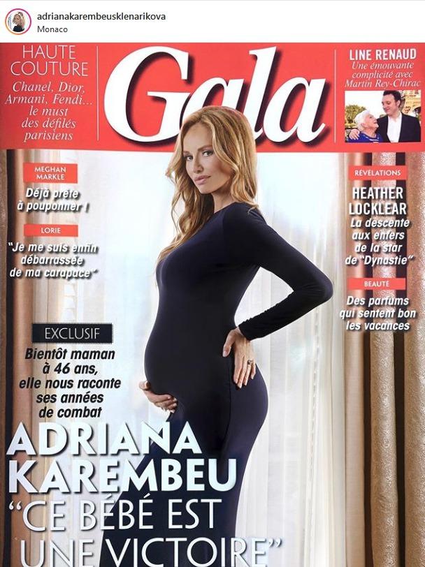 Adriana Sklenaříková se pochlubila fotografií v devátém měsíci těhotenství.