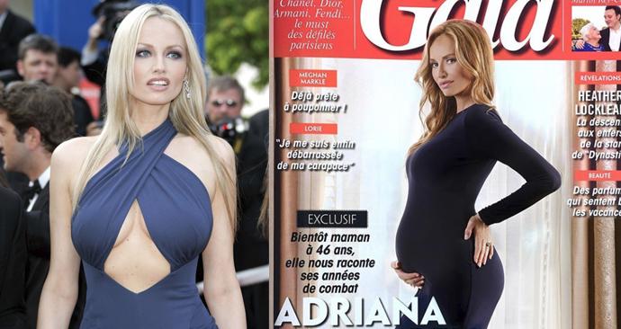 Adriana Sklenaříková se pochlubila těhotenským bříškem v 9. měsíci.
