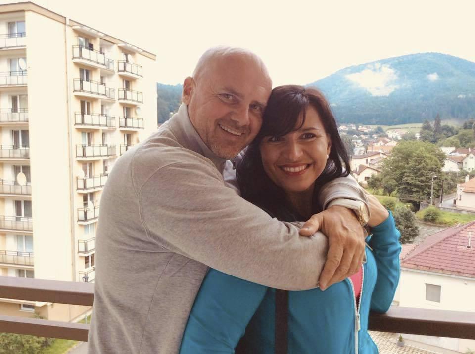 Andrea Tögel Kalivodová na dovolené s rodinou