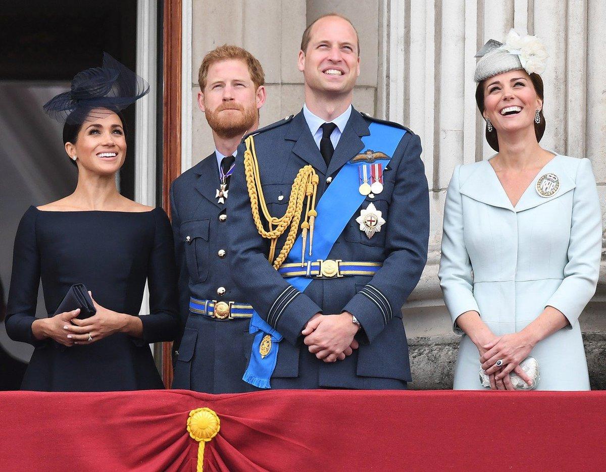 Královské páry na oslavách 100. výročí Royal Air Force