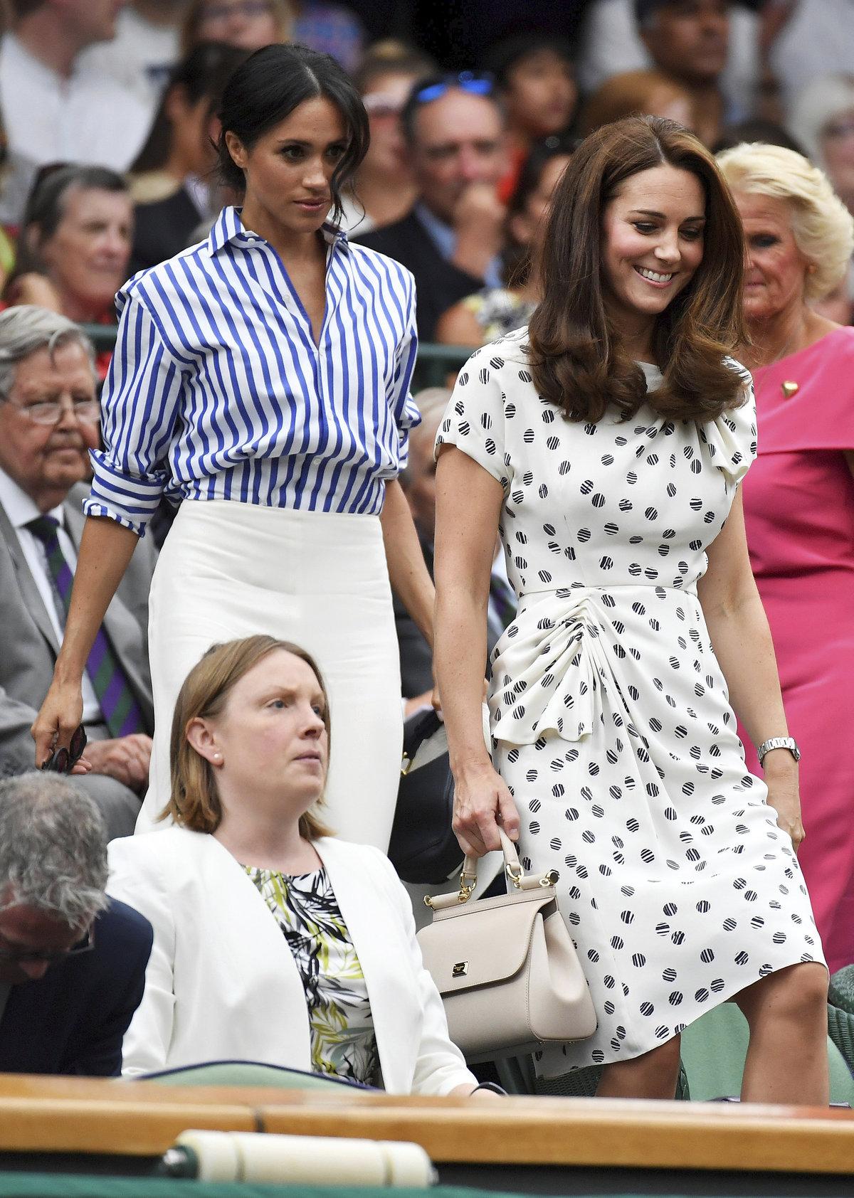 Meghan a Kate spolu vyrazily na Wimbledon.