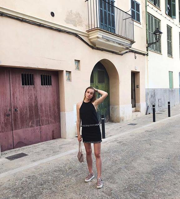 Anna Kadeřávková na dovolené na Mallorce