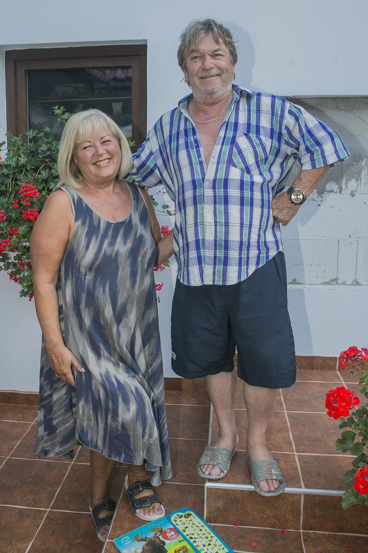 Roman Skamene s manželkou Renatou