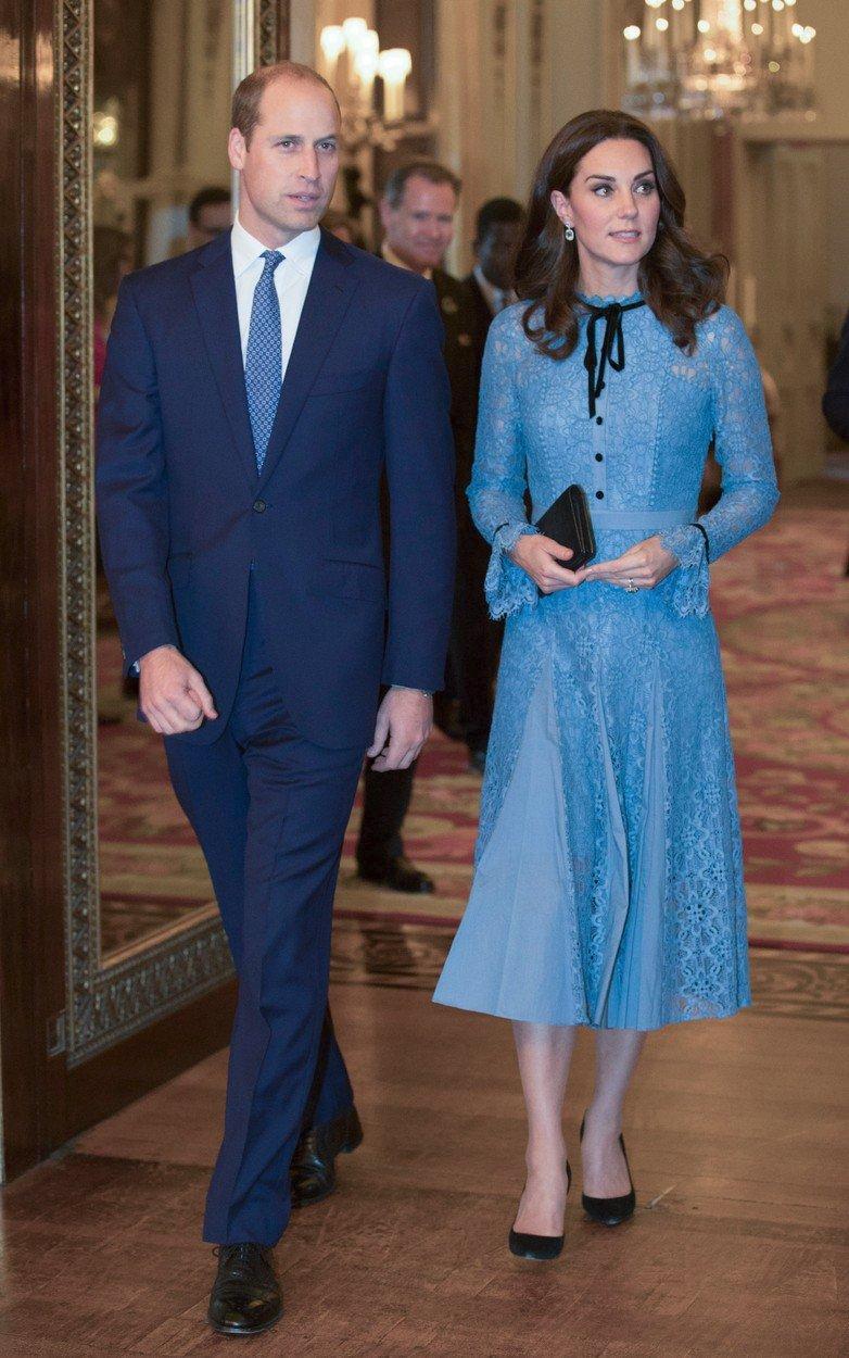 Vévodkyně Kate v šatech Temperley London v roce 2017