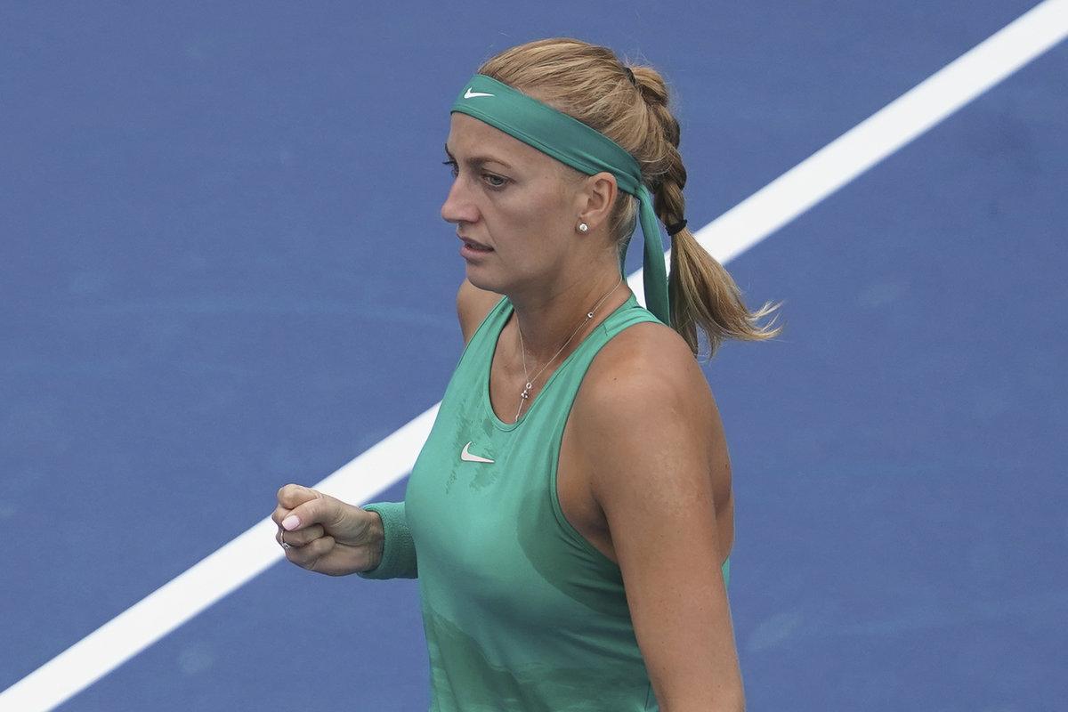 Petra Kvitová se hecuje ve čtvrtfinále turnaje v Cincinnati