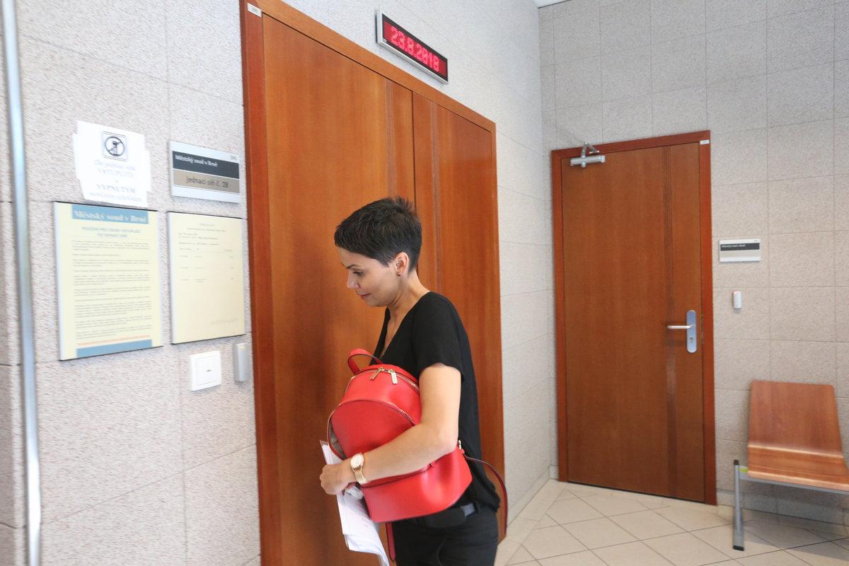 Vlaďka Erbová u soudu