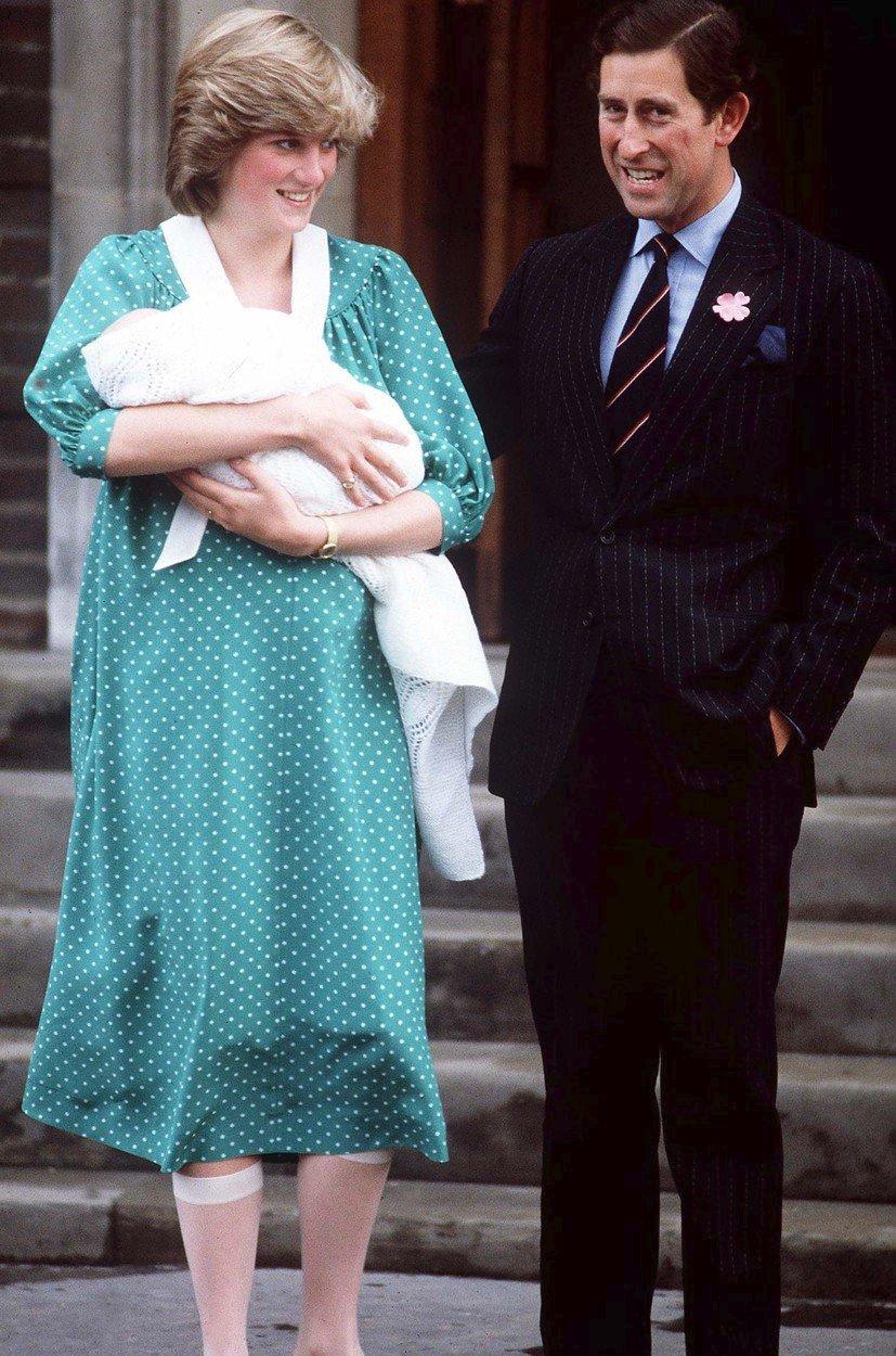 Diana a Charles s malým princem Williamem