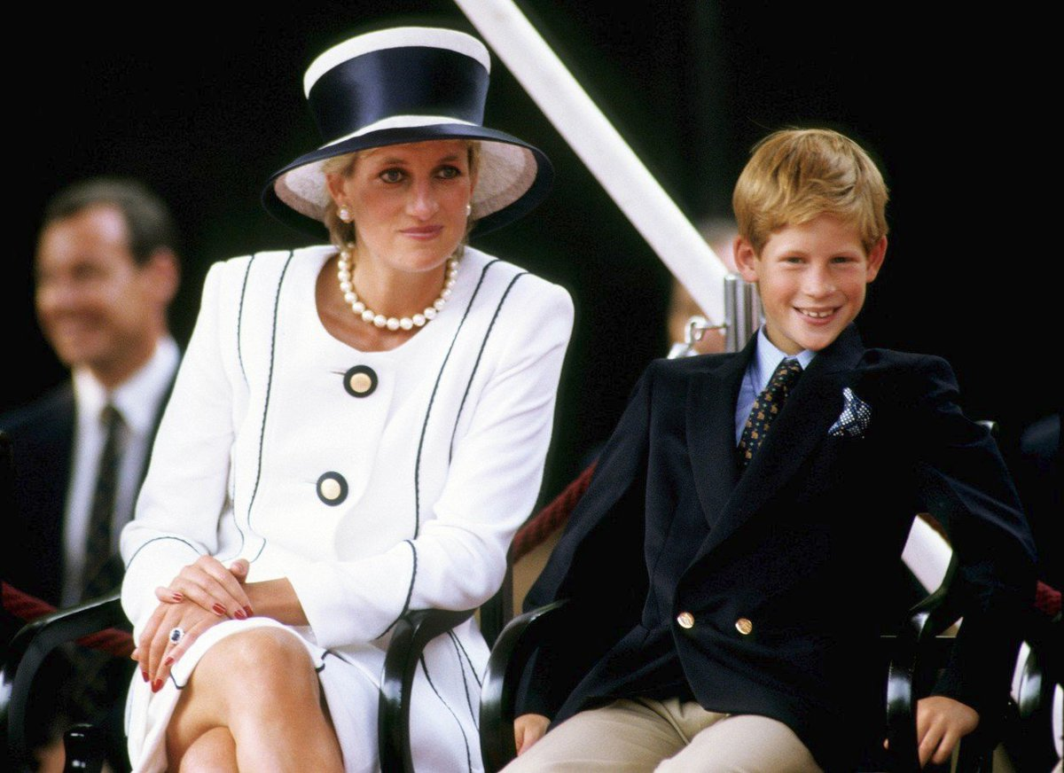 Lady Diana s malým Harrym