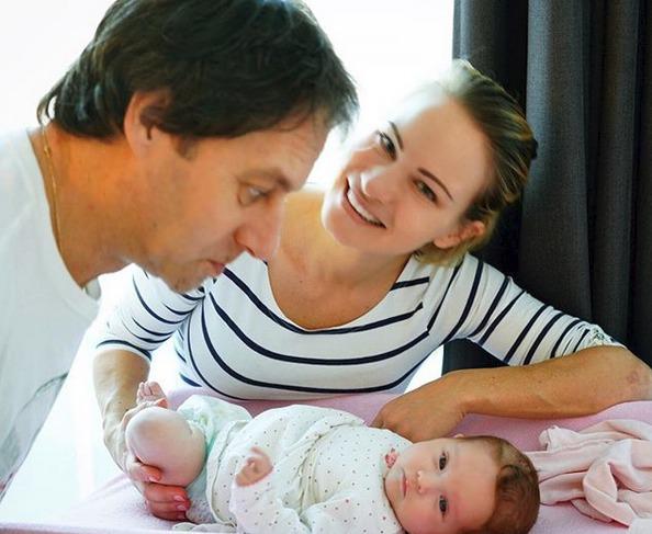 Pavol Habera s dcerou Zuzanou a vnučkou Lolou