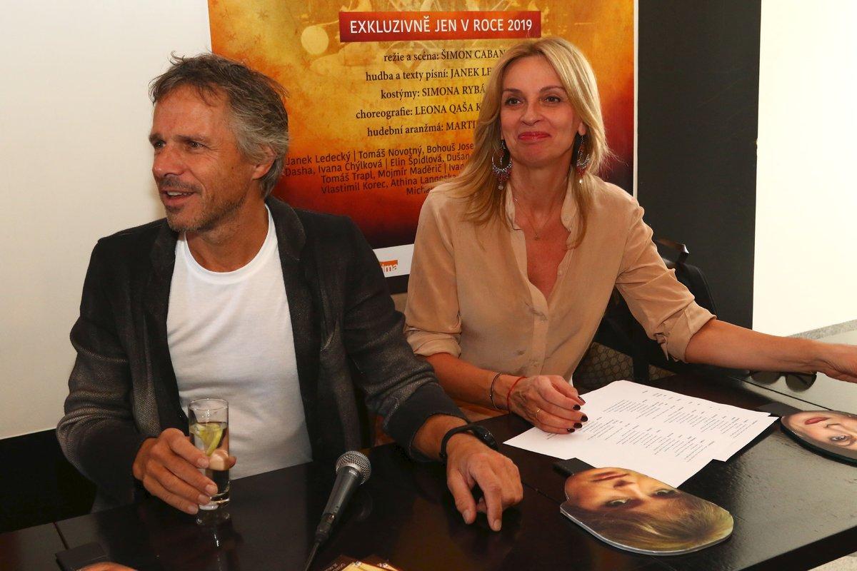 Ivana Chýlková a Janek Ledecký