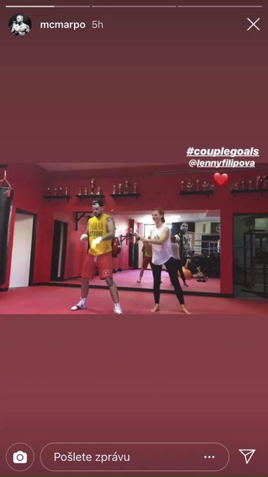 Marpo s Lenny na tréninku
