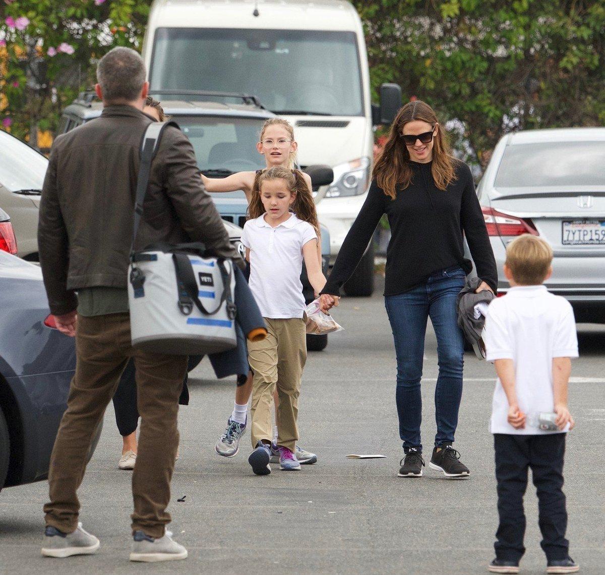 Ben Affleck s rodinou